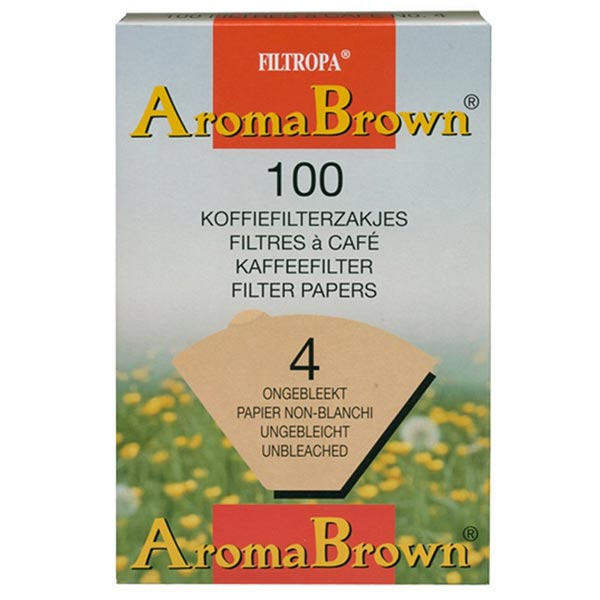 Filtropa Boxed Size 4 Brown Filter Papers (30 X 100)