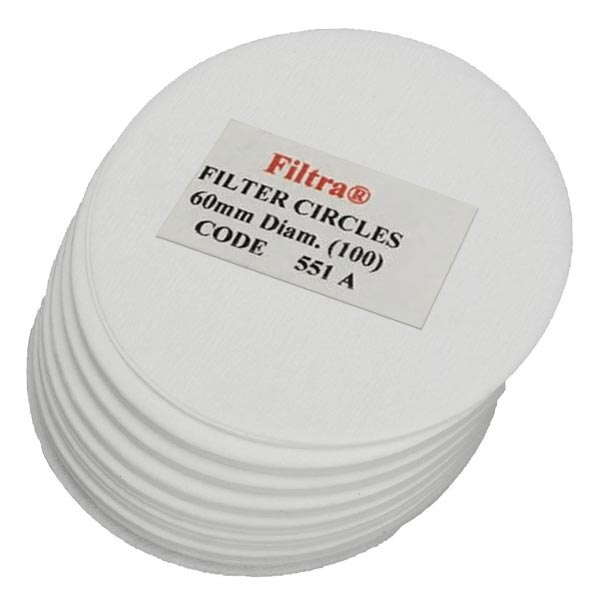 Filtra 60mm Discs  Polybagged - White (100)