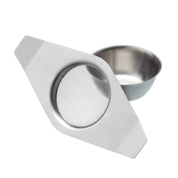 Le'Xpress Stainless Steel Double Handed Tea Strainer