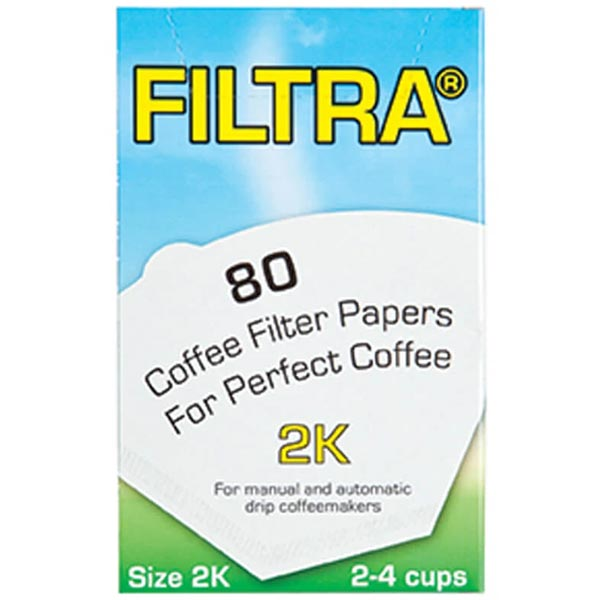 Filtropa Boxed Size 2 White Filter Papers (12 X 80)
