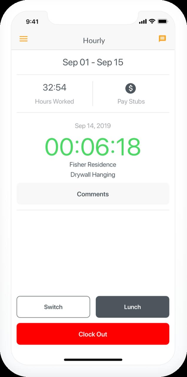 Hourly hero app showcase
