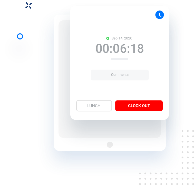 Illustration of Timer component in our App designed for Kiosk.