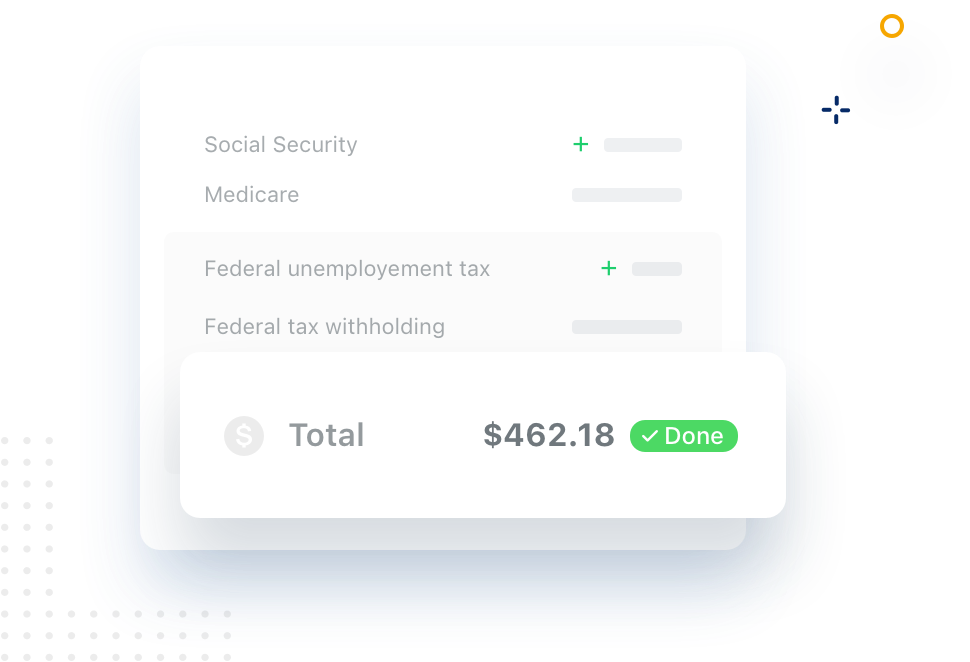 Illustration of Taxes component in our App.