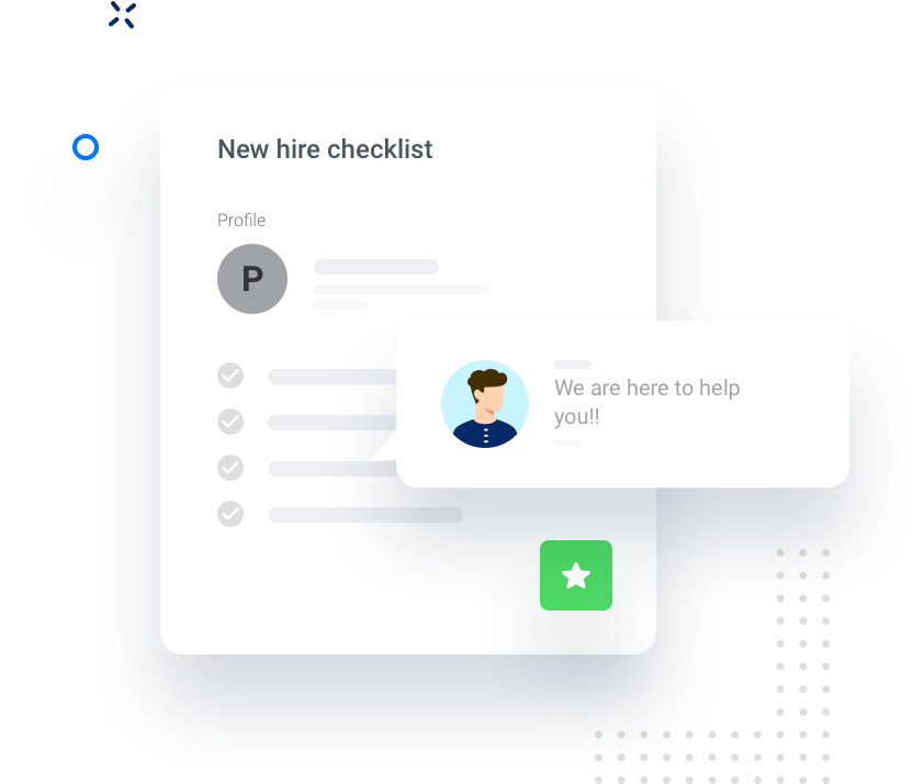 Illustration New hire checklist component in our app.