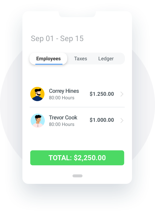 Illustration of Payroll Overview component.