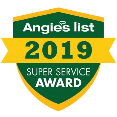 Kevin's Tree Service was awarded the 2019 Angie's List Super Service Award