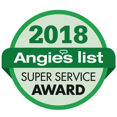 Kevin's Tree Service was awarded the 2018 Angie's List Super Service Award