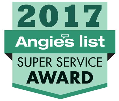 Kevin's Tree Service was awarded the 2017 Angie's List Super Service Award