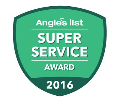 Kevin's Tree Service was awarded the 2016 Angie's List Super Service Award