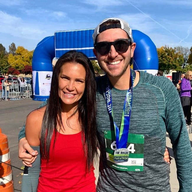 Dr. Robinson and his wife at a race