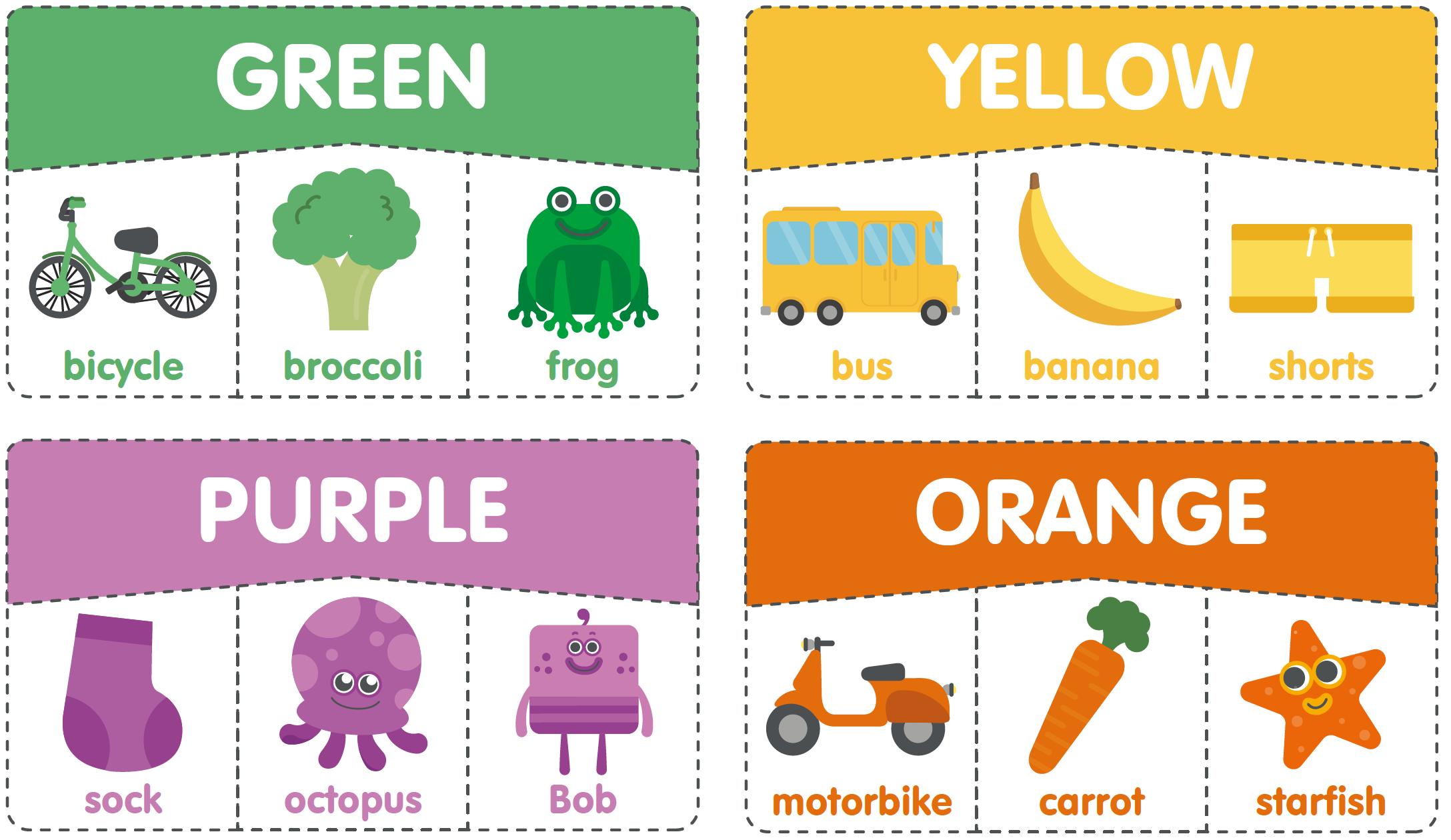 顏色玩配對 幼兒英文
