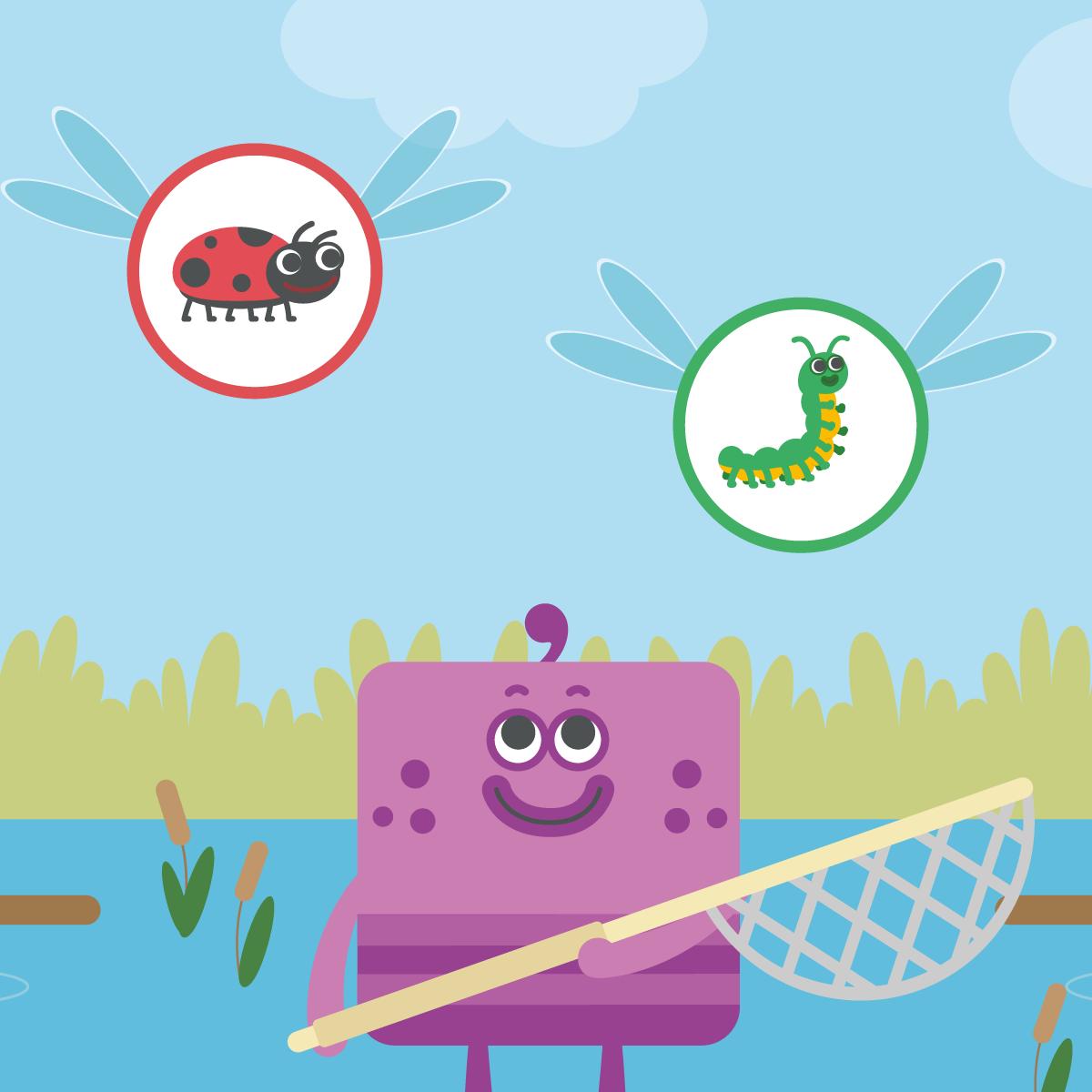 Bug hunt game for kids