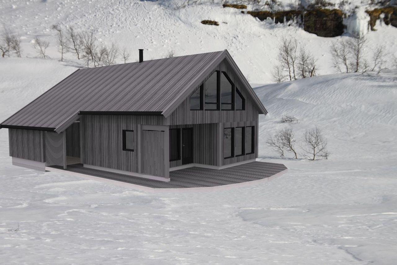 Illustrasjonsbilde av hyttemodell