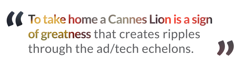 loeb nyc quote to take home a cannes lion is a sign of greatness