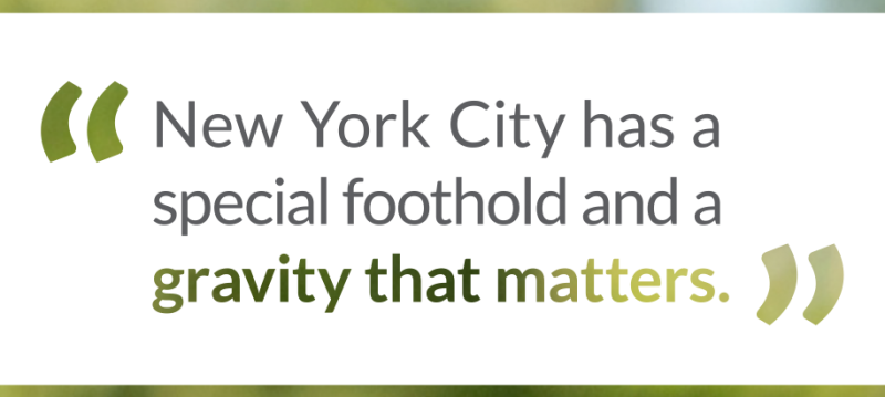 Damian Woetzel quote: New York City has a special foothold and a gravity that matters