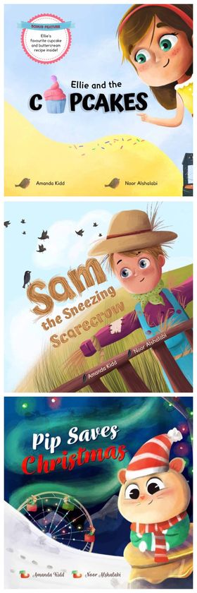 Bundle - Ellie and the Cupcakes, Sam the Sneezing Scarecrow & Pip Saves Christmas