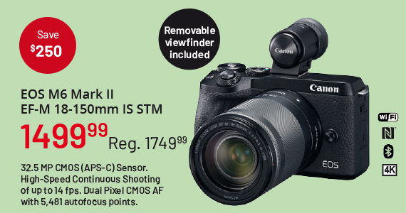 EOS M6 MArk II EF-M 18-150mm IS STM