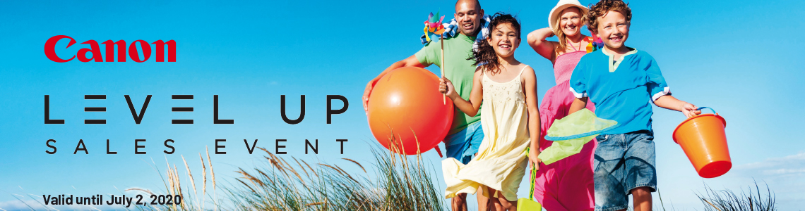 Canon Level Up Sales Event valid until July 2, 2020