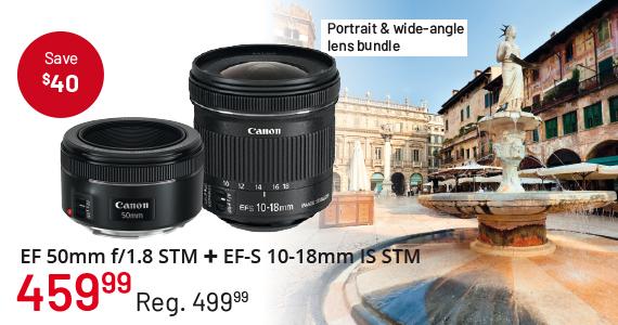 EF 50mm f/1.8 STM + EF-S 10-18mm IS STM