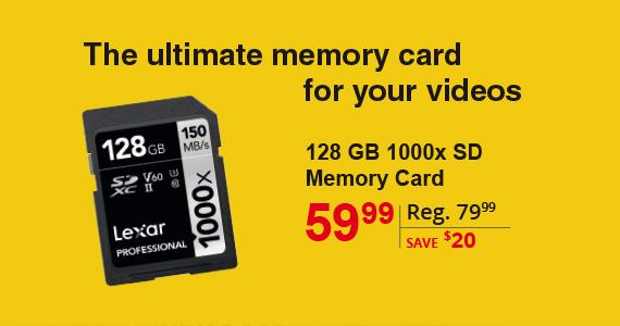 Lexar 128 GB 1000xSD Memory Card
