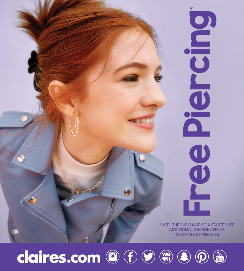 Young woman with Half Hoop Earrings
