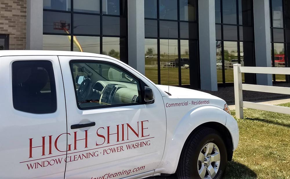 High Shine Window Cleaning Van