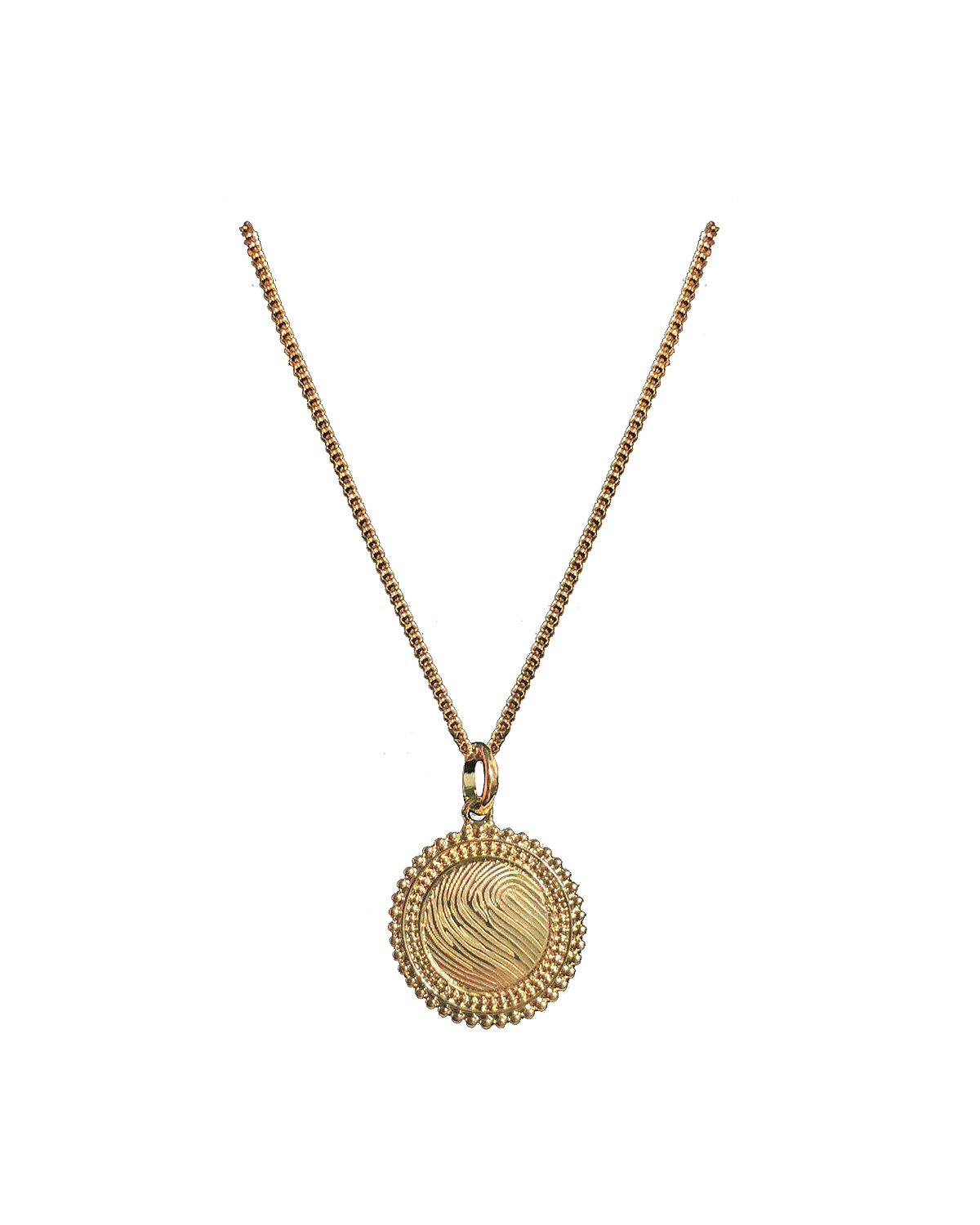 Solar Necklace, Gold-plated