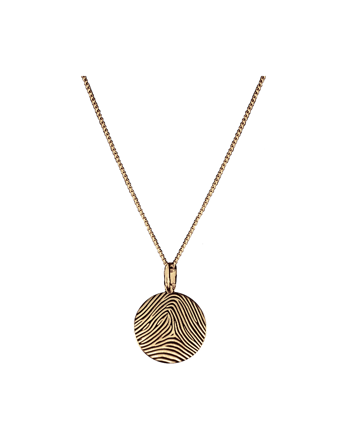Huella Necklace, Gold-plated