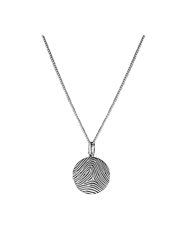 Huella Necklace, Silver