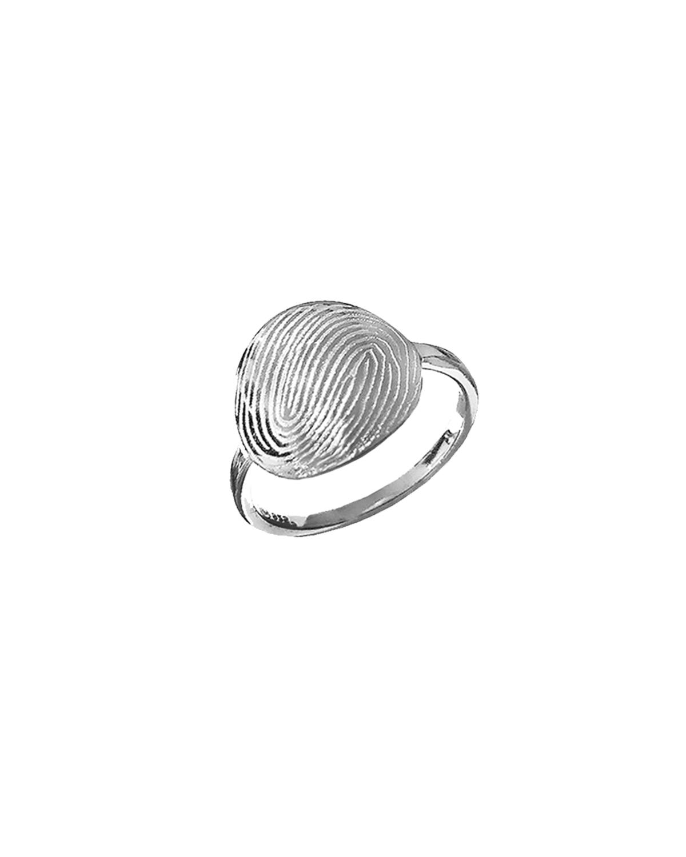 Huella Ring, Silver