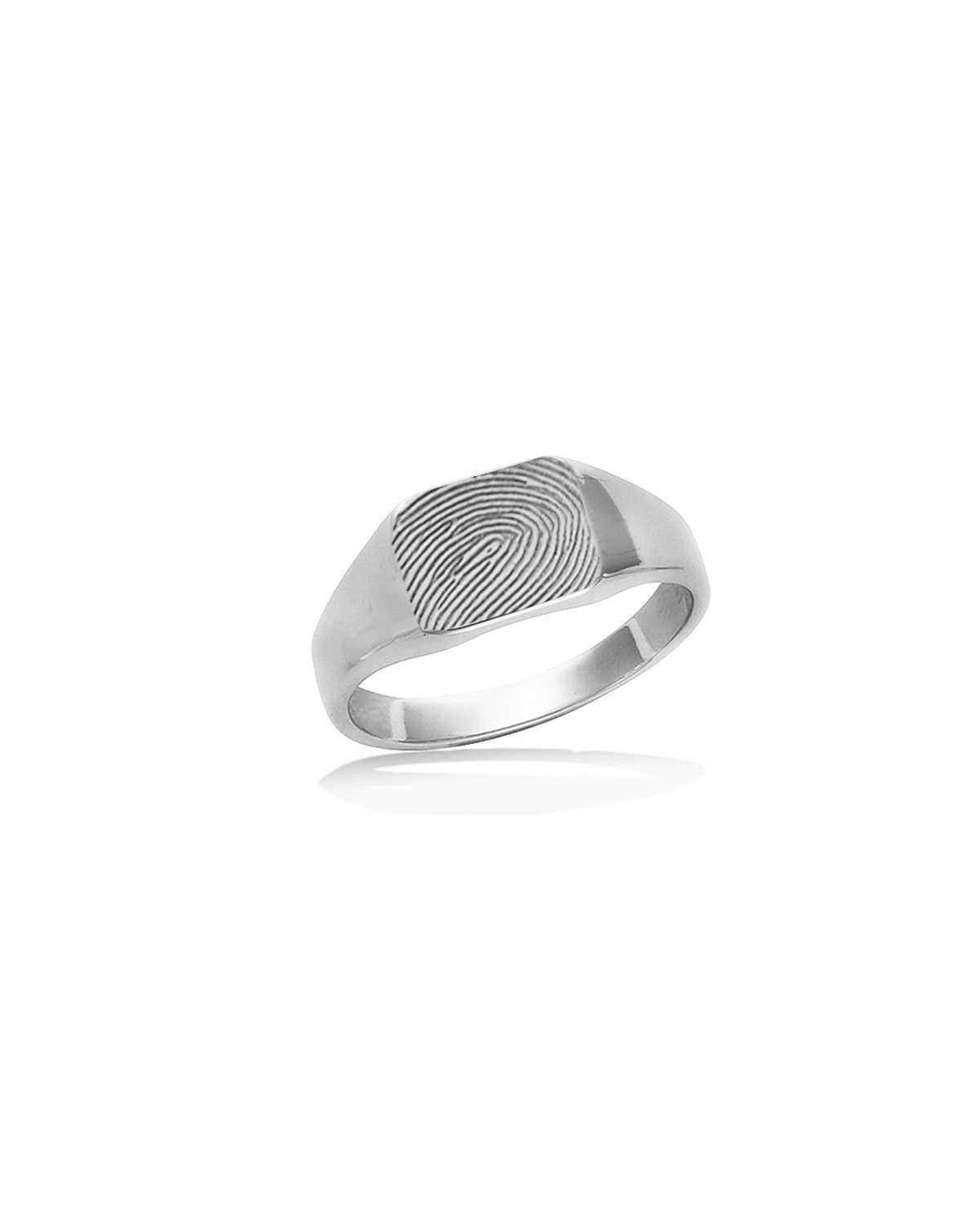 Signet Ring, Rectangle, Silver