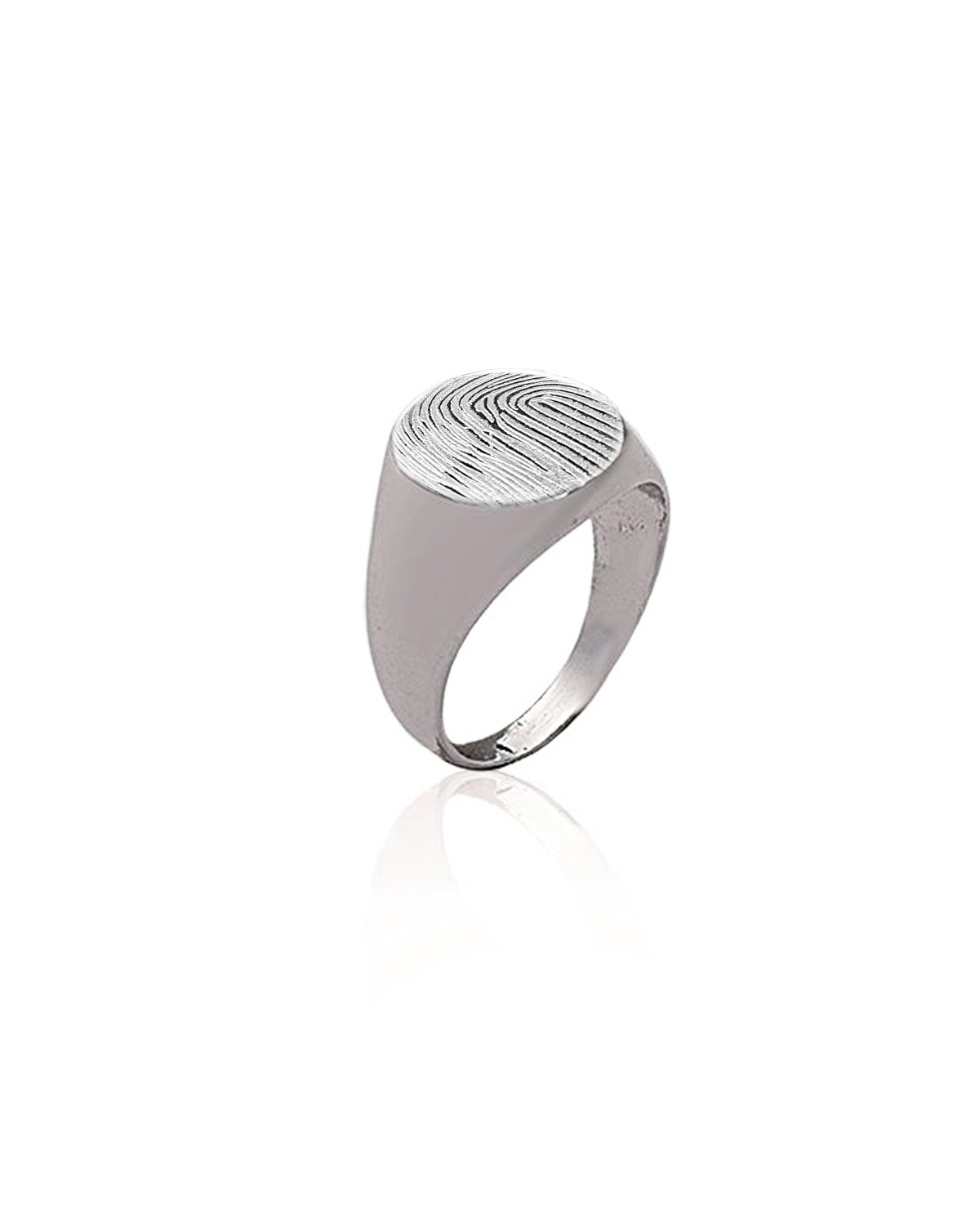 Signet Ring, Round, Silver