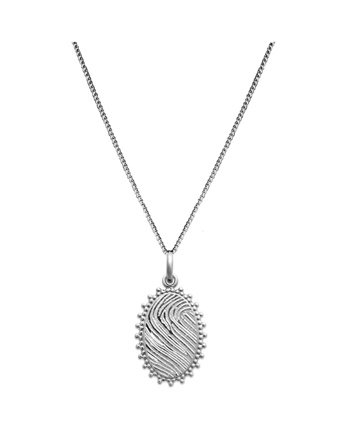 Oval Necklace, Silver