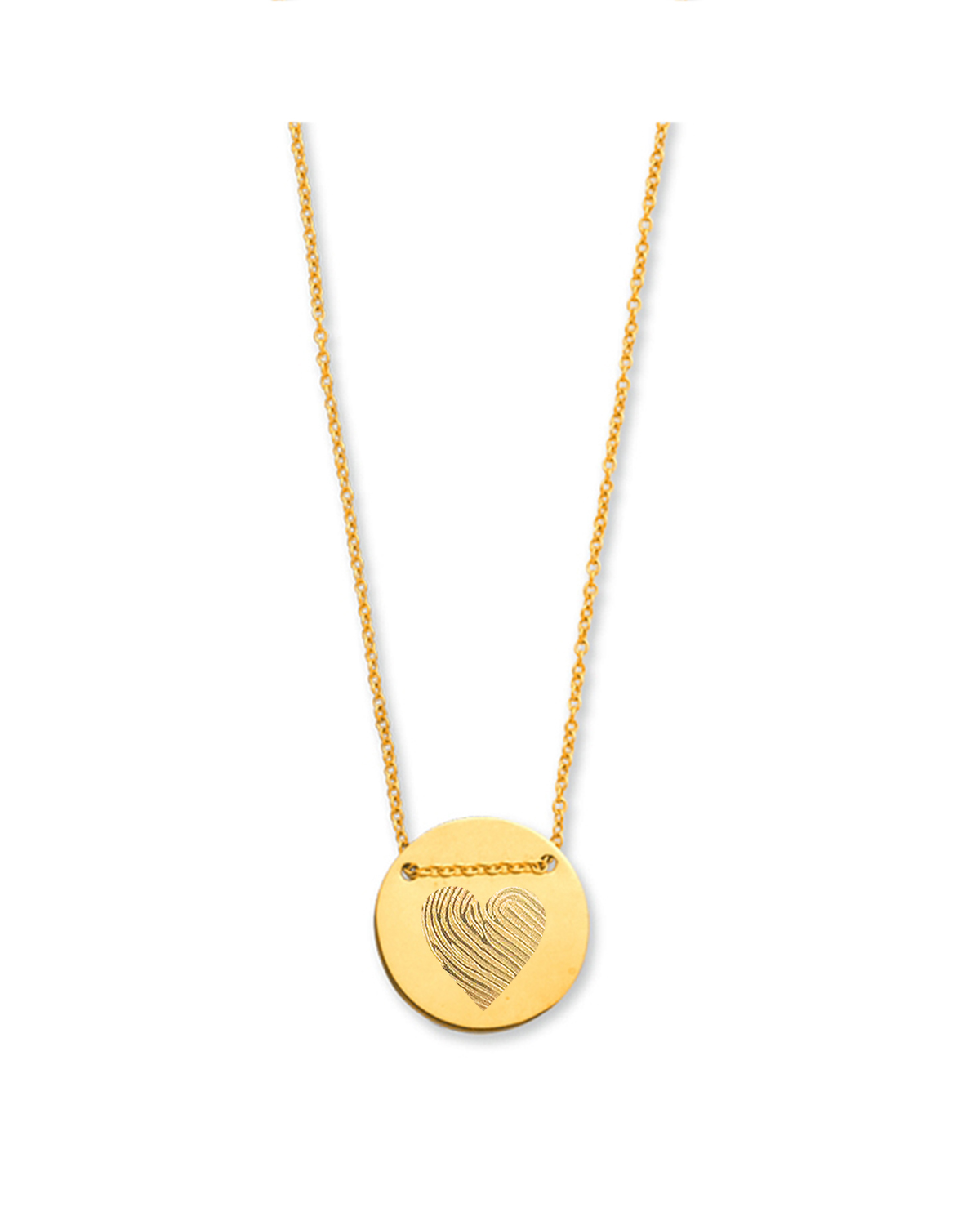 18K Heart Chain Necklace