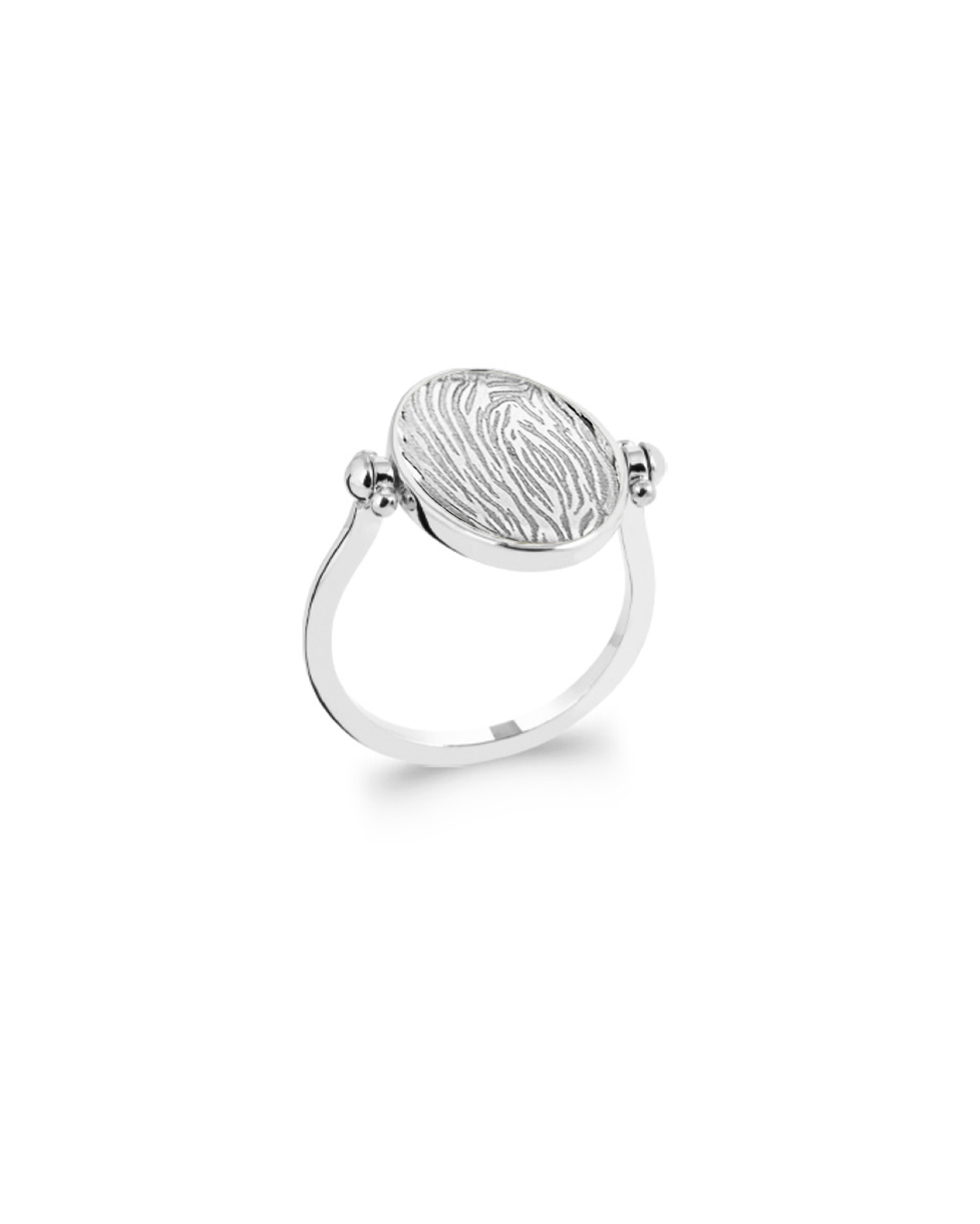 Pearly Ring, Silver