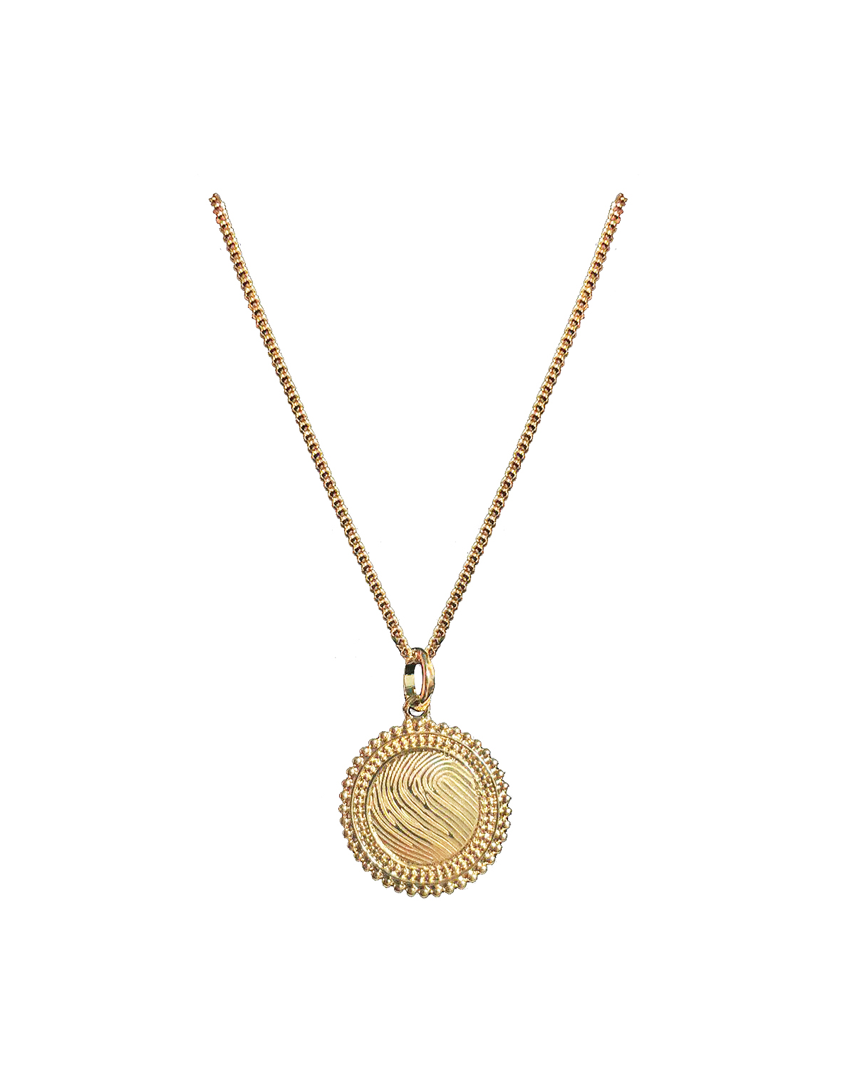 Royal Solar Necklace, Gold-plated
