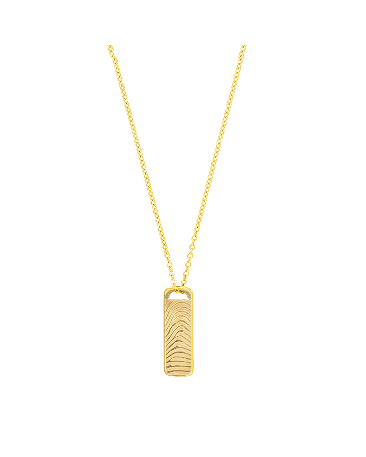 18K Plate Necklace, Gold