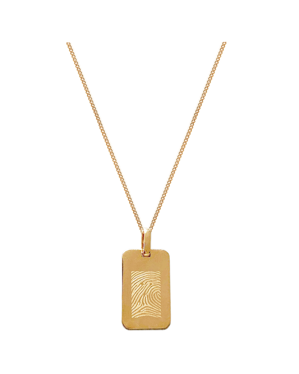 Tag Charm Necklace, Gold-Plated