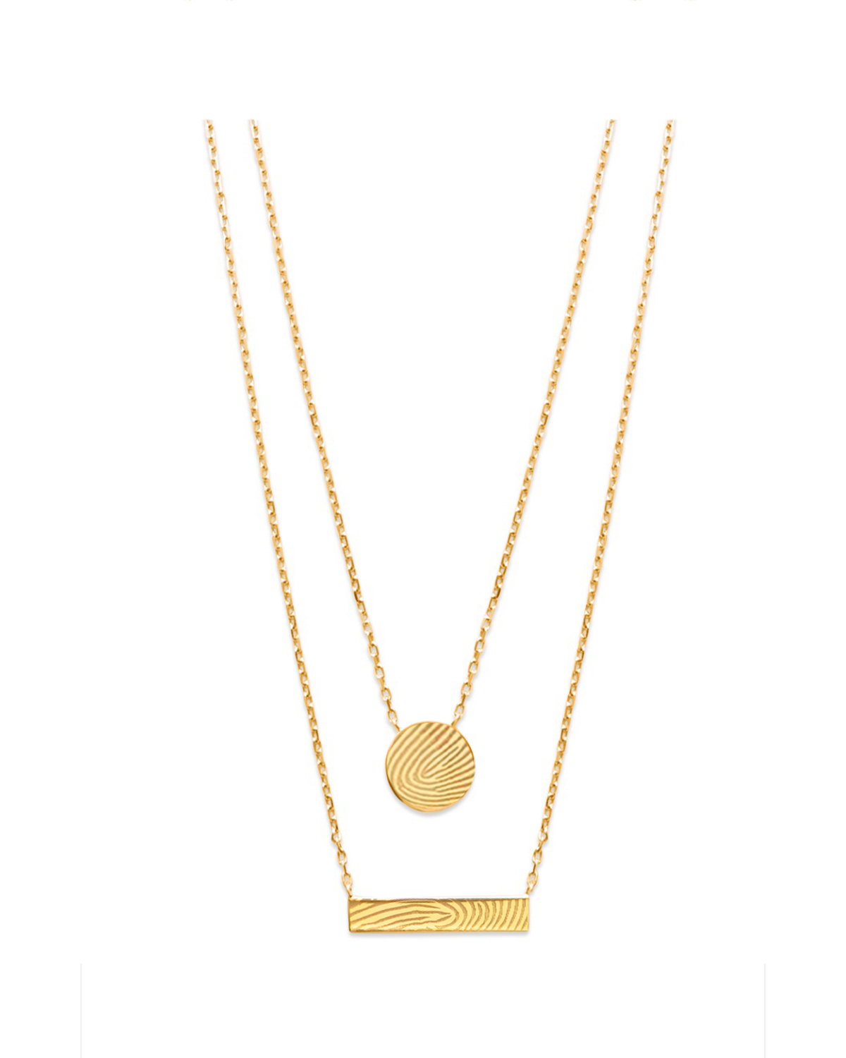 Double Pendant Necklace, Gold-Plated
