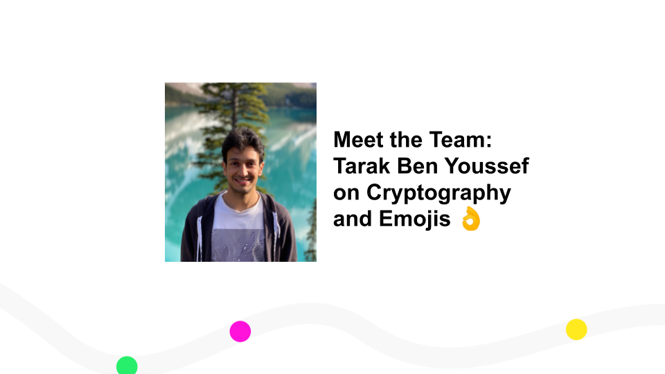 Meet the Team: Tarak Ben Youssef on Cryptography and Emojis 👌