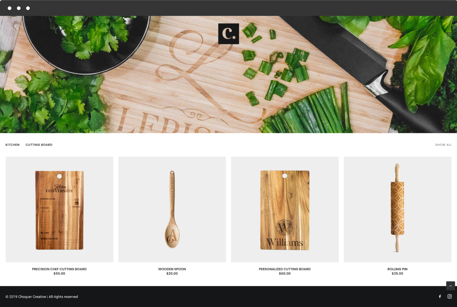 Image of Choquer Store's Website