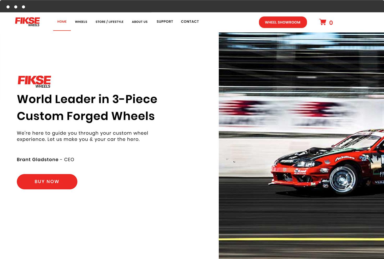 Image of FIKSE Wheel's Website
