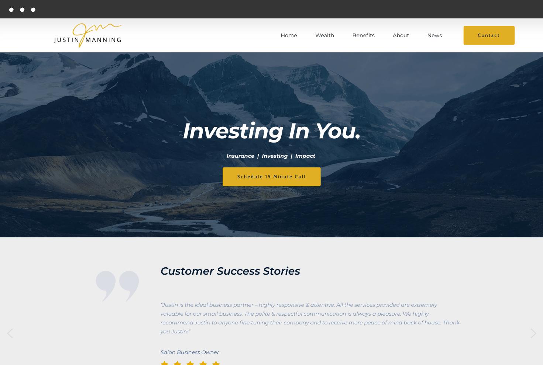 Image of Justin Manning's Website