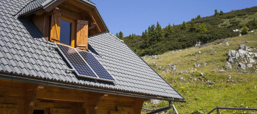 Solcellepanel til hus