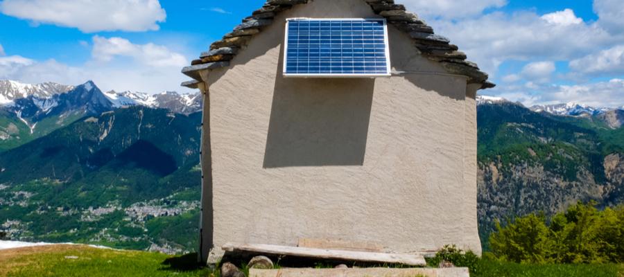 Solcellepanel hus
