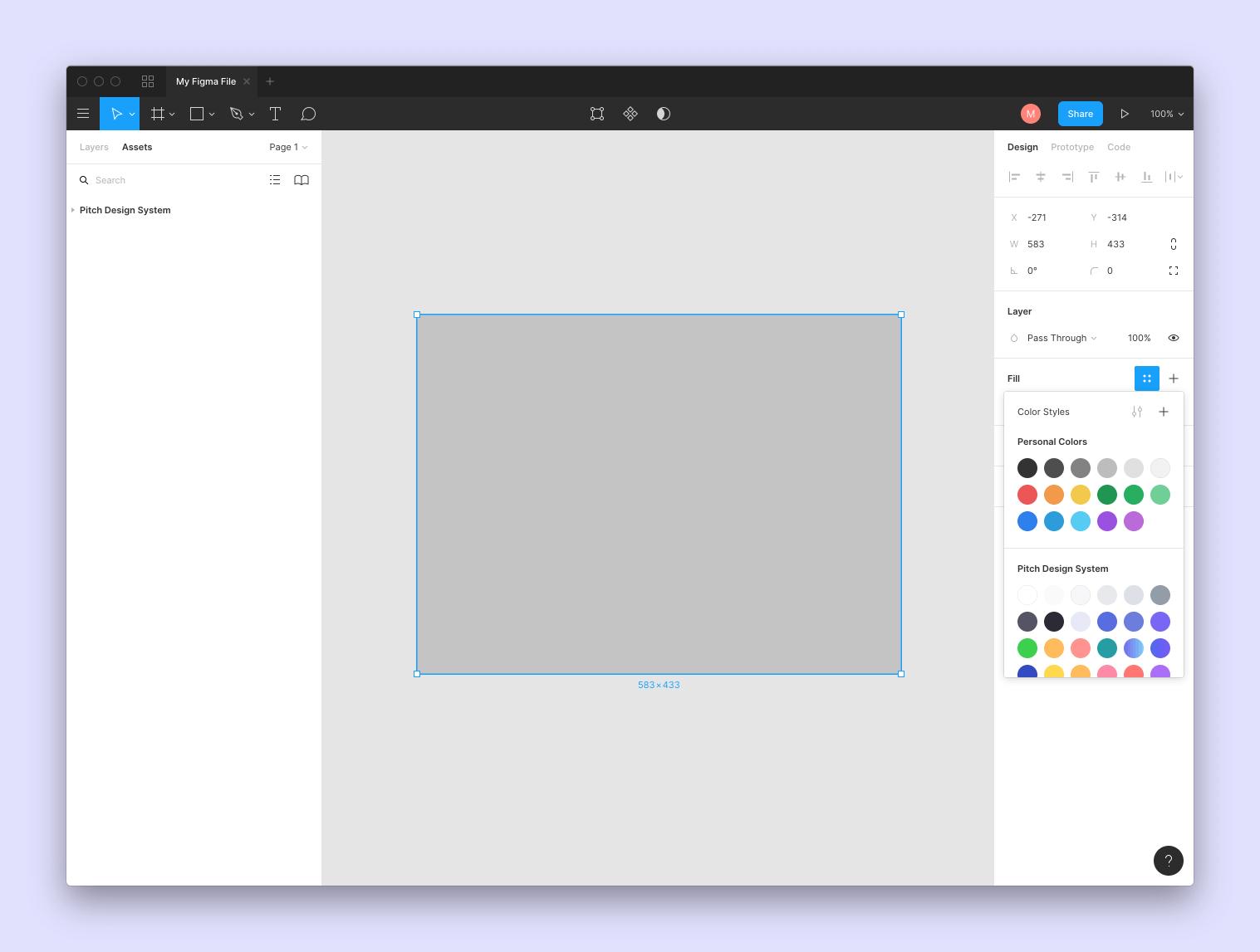 Figma style editor