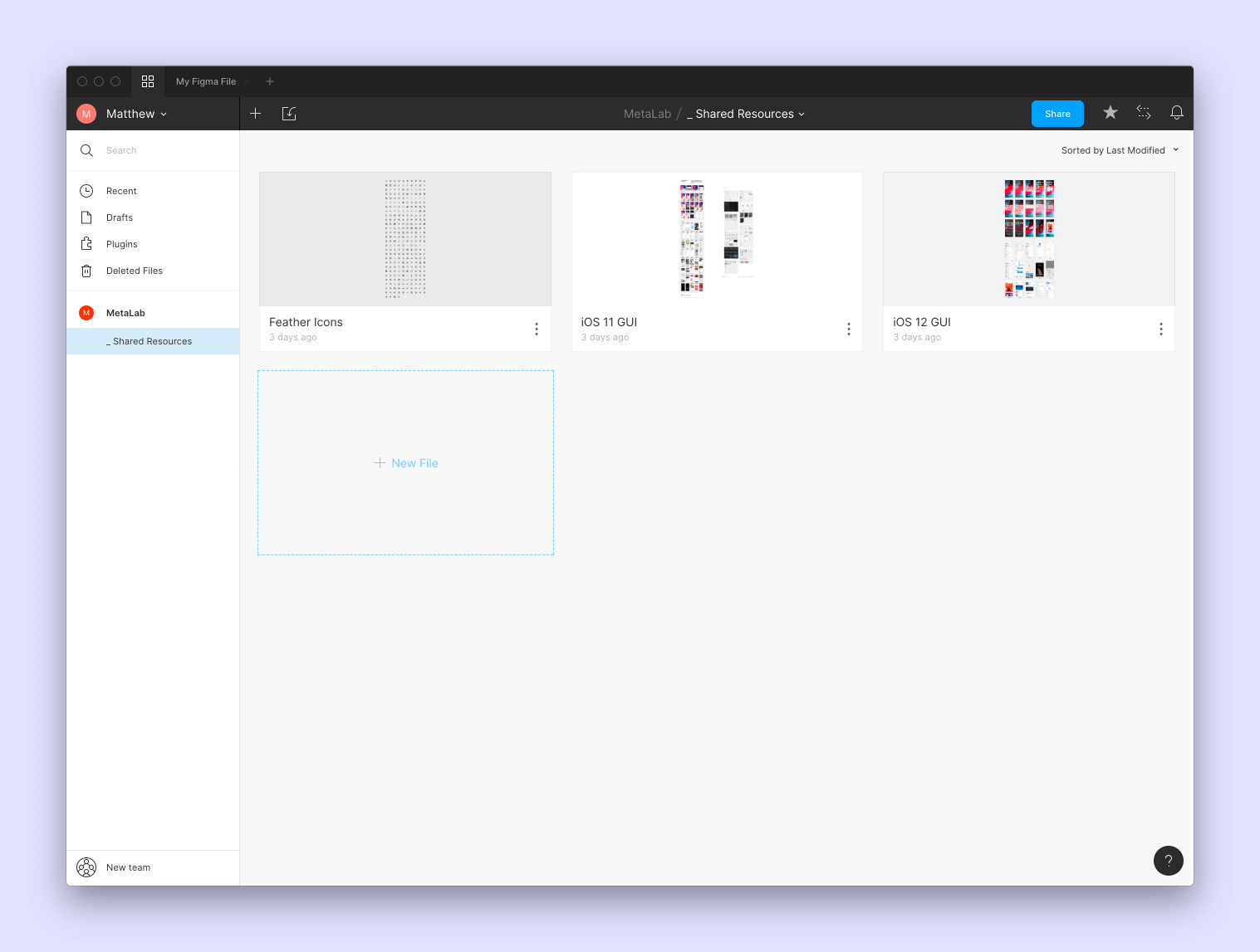 Figma shared resources