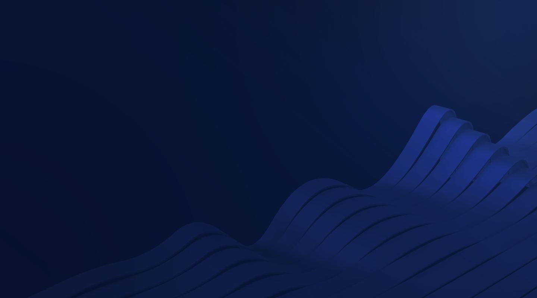 Image of blue 3D waves