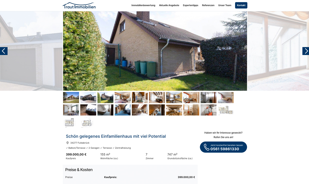 Foto Online Immobilie - Traut Immobilien