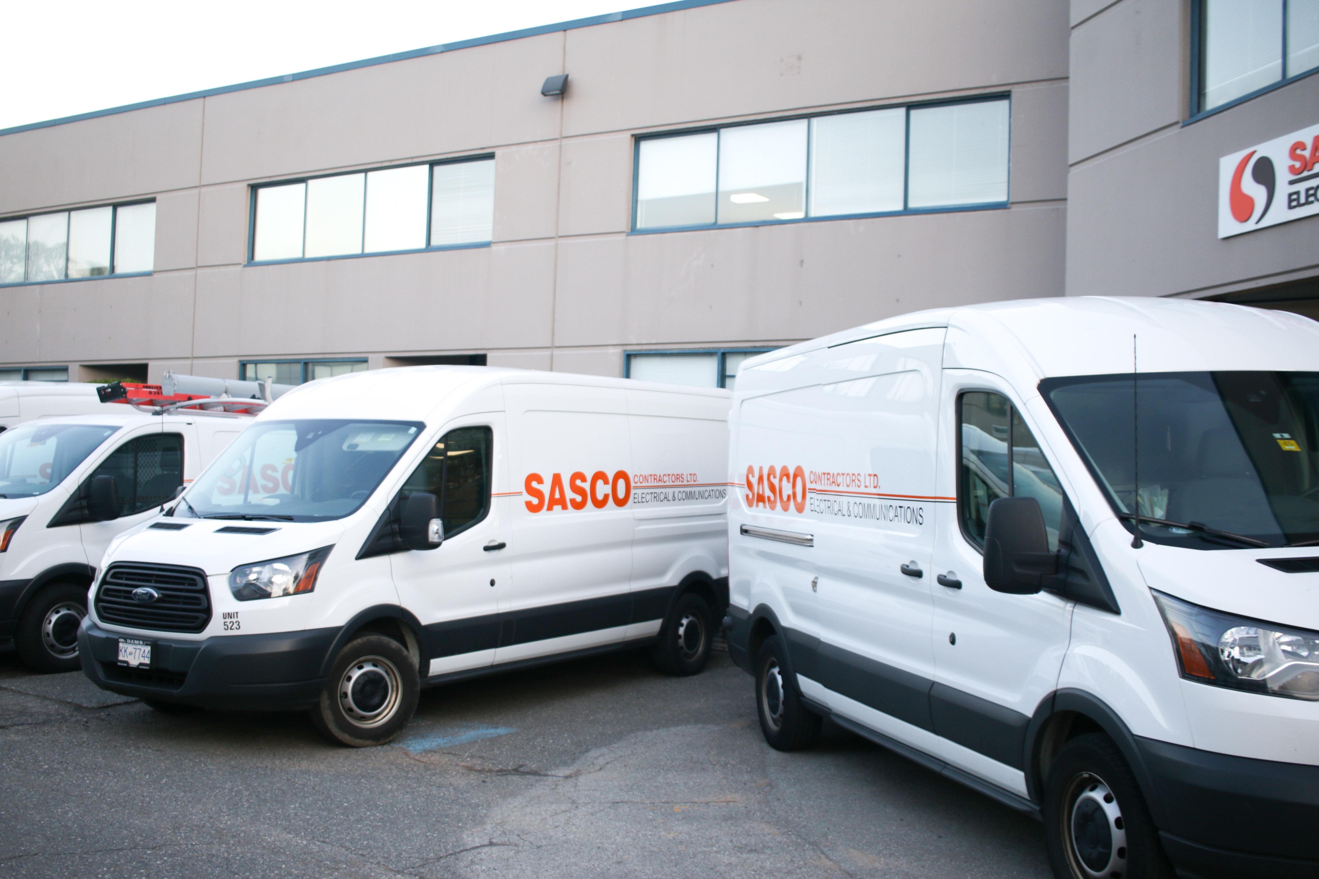 Sasco trucks at head offic